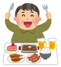食べ過ぎのイメージイラスト