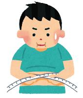 メタボ検診のイメージイラスト